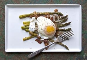 bacon asparagus egg