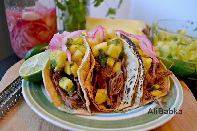 Tropical Beef Tacos